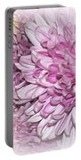 Pastel Pink Mums Portable Battery Charger