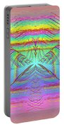 Pastel Rainbow Reverberations Portable Battery Charger