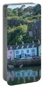 Pastel Rowhome In The Bay Highlands Scotland Portable Battery Charger