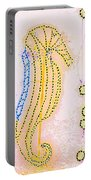 Pastel Seahorse In Lights  Portable Battery Charger