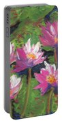 Pastel Water Lilies I  Portable Battery Charger
