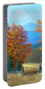 Pasture Gate In Autumn Portable Battery Charger