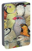 Patchwork Birds Portable Battery Charger