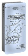 Patent Art Robinson Baby Carriage Blue Portable Battery Charger