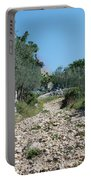Path Among Olive Trees Portable Battery Charger