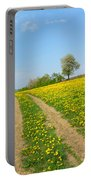 Path In Dandelion Meadow  Portable Battery Charger