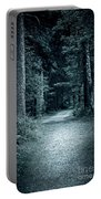 Path In Night Forest Portable Battery Charger