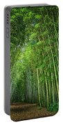 Path Through Bamboo Forest E139 Portable Battery Charger