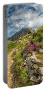 Path To Lake Idwal Portable Battery Charger by Adrian Evans