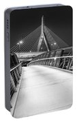 Path To The Zakim Bridge Bw Portable Battery Charger