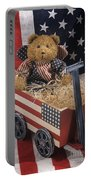Patriot Bear Portable Battery Charger by Sharon Elliott