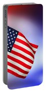 Patriotic American Flag Portable Battery Charger