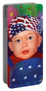 Patriotic Baby Portable Battery Charger