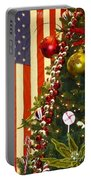 Patriotic Christmas Portable Battery Charger