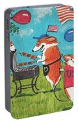 Patriotic Pups Portable Battery Charger
