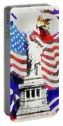 Patriotic Symbolism Portable Battery Charger