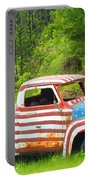 Patriotic Truck Portable Battery Charger