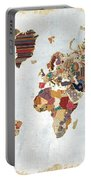 Pattern World Map Portable Battery Charger