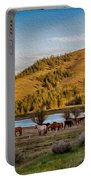 Patterson Mountain Afternoon View Portable Battery Charger by Omaste Witkowski