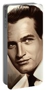 Paul Newman Artwork 1 Portable Battery Charger