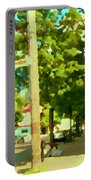 Paul Patate Pte St Charles Fast Food Restaurant Rue Charlevoix Street Scene Carole Spandau Portable Battery Charger
