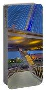 Paul Revere Park And The Zakim Bridge Portable Battery Charger