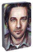 Paul Rudd Portrait Portable Battery Charger
