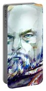 Paul Verlaine - Watercolor Portrait.1 Portable Battery Charger
