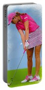 Paula Creamer In Actionon The Evian Masters Portable Battery Charger