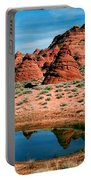 Paw Hole Reflections Portable Battery Charger by Mike  Dawson