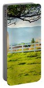 Payson Country Temple Oil Paint Texture Portable Battery Charger