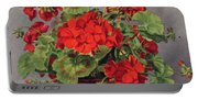 Geranium In An Earthenware Vase Portable Battery Charger