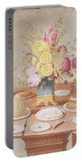 Pd.869-1973 Still Life With A Vase Portable Battery Charger
