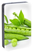 Pea Pods And Green Peas Portable Battery Charger