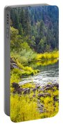 Peace And Tranquility In The Heart Of Feather River, Quincy California Portable Battery Charger