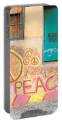 Hippie Graffiti - Peace But Keep Out Portable Battery Charger