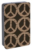 Peace Symbol Collage Portable Battery Charger