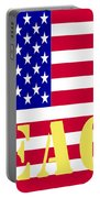 Peace The American Flag Portable Battery Charger
