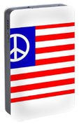 Peace Usa Flag Portable Battery Charger