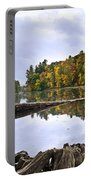 Peaceful Autumn Lake Portable Battery Charger by Christina Rollo