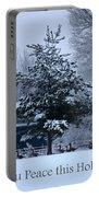Peaceful Holiday Card - Winter Landscape Portable Battery Charger