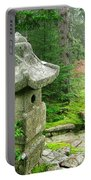Peaceful Japanese Garden On Mount Desert Island Portable Battery Charger