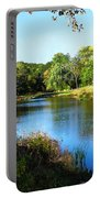 Peaceful Lake Portable Battery Charger by Susan Savad