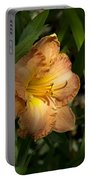 Peach Daylily Delight Portable Battery Charger