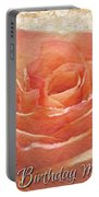 Peach Rose Happy Birthday Mom Card Portable Battery Charger