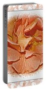 Peach Rose Sqrare Digital Paint Portable Battery Charger