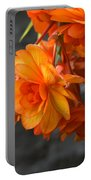 Peachy Begonias Portable Battery Charger