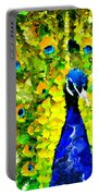 Peacock Abstract Realism Portable Battery Charger