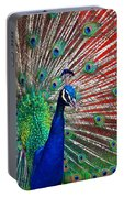 Peacock And Red Barn Portable Battery Charger