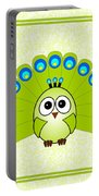 Peacock  - Birds - Art For Kids Portable Battery Charger